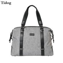 Tidog New art font b Oxford b font canvas large capacity men s short travel bag