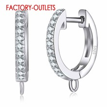 Newest Popular Trend Korean Style 925 Sterling Silver Earrings For Women Hoop Earrings Findings DIY Fashion Jewelry Accessory(China)