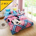 Hot sale Mickey Mouse Print Twin  Queen Size Childrens Cotton Home Textile Boys Quilt Duvet Covers 3-4 Pc Bed Linen Bedding Sets