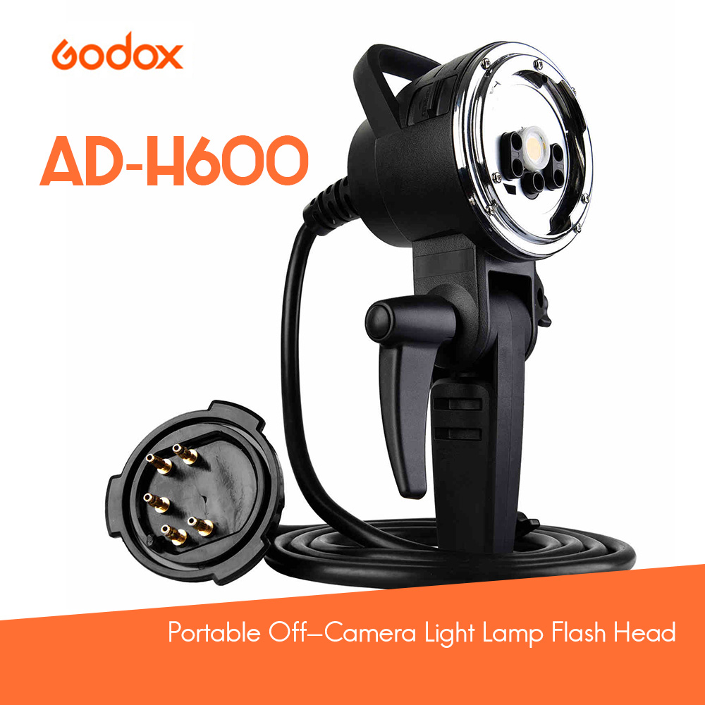 Godox AD-H600 600W Portable Off-Camera Light Lamp Flash Head for Godox AD600 AD600M for Godox / Bowens Mount