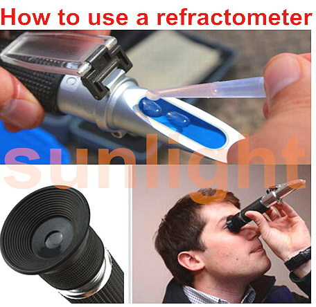 Whosesale 10pcs/lot RHA 503ABATC Car AdBlue Urea Battery Antifreeze Cleaner Fluid 4 in 1 Refractometer with Plastic Retail Box-in Refractometers from Tools    2