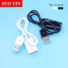 1pcs USB 2.0 Extension Cable Adapter Connector 50cm 100cm Male to Female Data Sync Cord Cable Cord Wire For PC Laptop Computer