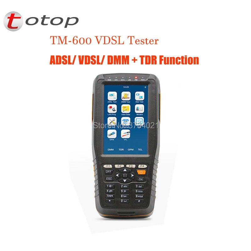 TM-600 VDSL VDSL2 Testeur ADSL WAN & LAN Testeur xDSL Test Equipment Avec Version De Base + TDR Fonction