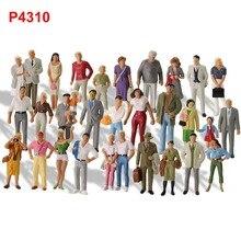 30 pcs Verschillende Poses Modeltreinen 1:43 O Schaal Alle Staande Geschilderde Figuren Passagiers Mensen Modelspoor P4310