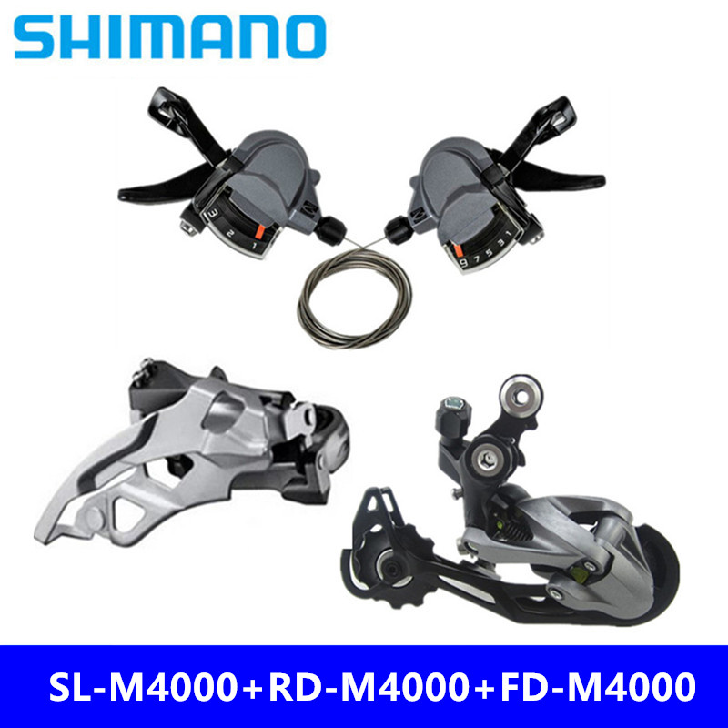 Sports & Entertainment Shimano Mountain Bike Alivio M4000 Groupset 3x9/27 Speed 3 Pcs Rd+fd+shifters Bicycle Derailleur