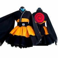 Uzumaki Naruto Cosplay Kostüm Unisex Lolita Kleid Full Set Kimono Angepasst