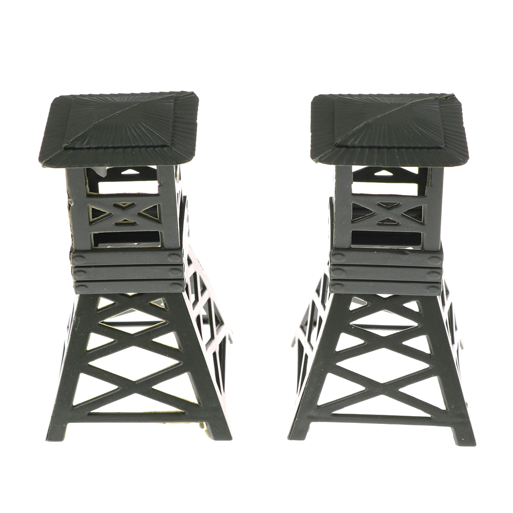 2pcs/set Plastic Military Sand Table Watch Towers Model Toys Large Static Bulk Fence Components