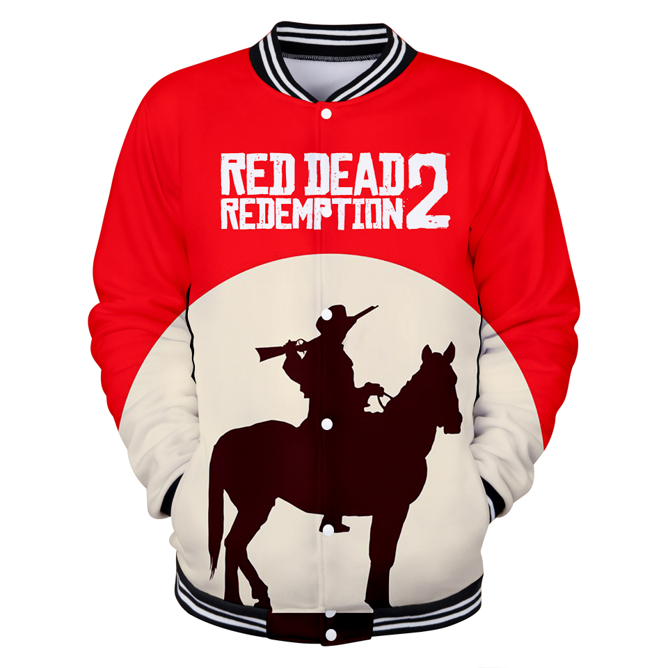 Red Dead Redemption 2 3D Harajuku Bomber Jacket Women Hoodies Sweatshirt Top Baseball Jacket Kpop Casual Warm 3D Oversized