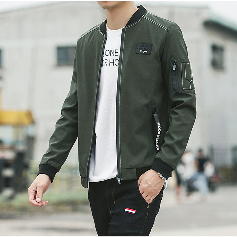 HCXY 2017 New Men Jacket Spring Autumn Fashion Brand Slim Fit Coats Male Baseball Bomber Jacket Mens Coat large size 5XL 2