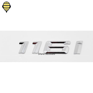 Image 2 - Silver Car Styling for BMW 1 Series 3D Sticker Auto Trunk Lid Rear Emblem Decal Badge for BMW 120i 118i 116i GT F10 F11 X1 E93