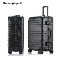 202629inchTrolley Suitcase Aluminum Rolling Luggage With TSA Lock Large Capacity Travel women Suitcase fashion board luggage