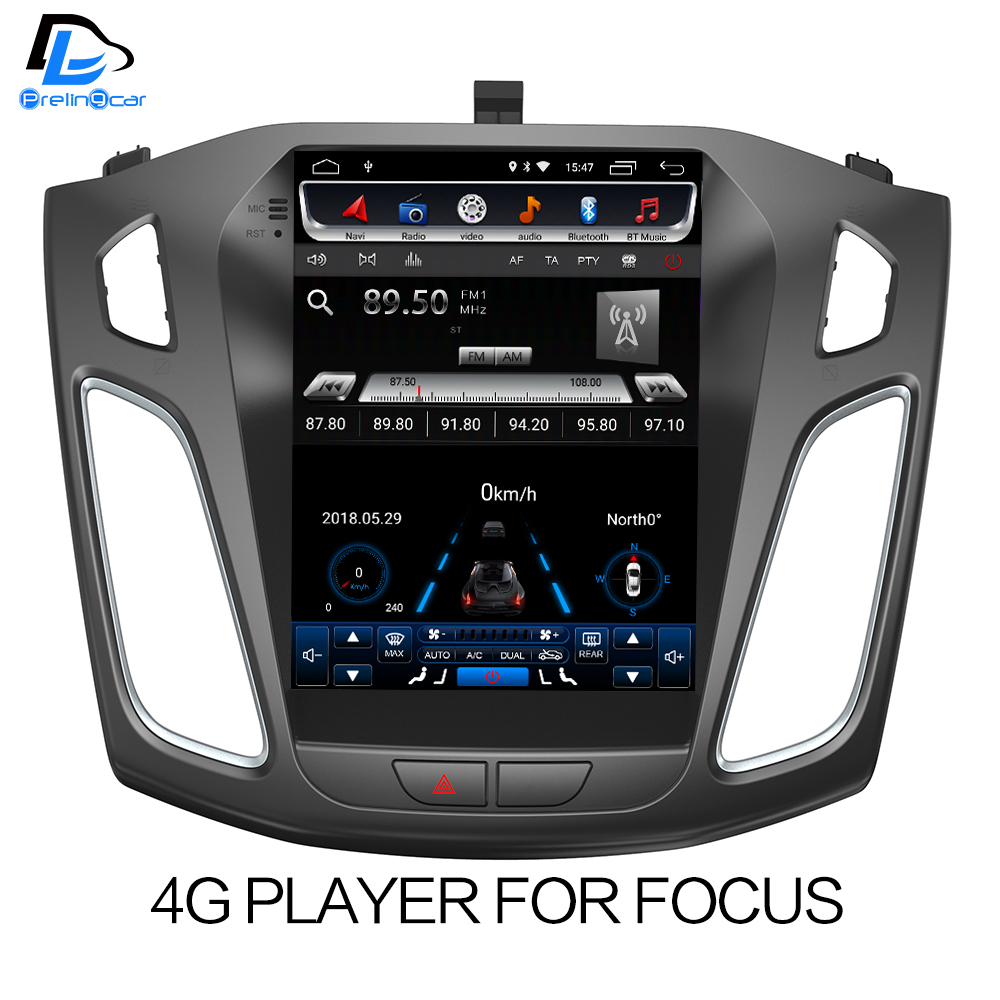 32G ROM Vertical screen android car gps multimedia video radio player for ford focus salon 2012 2016 years navigation stereo