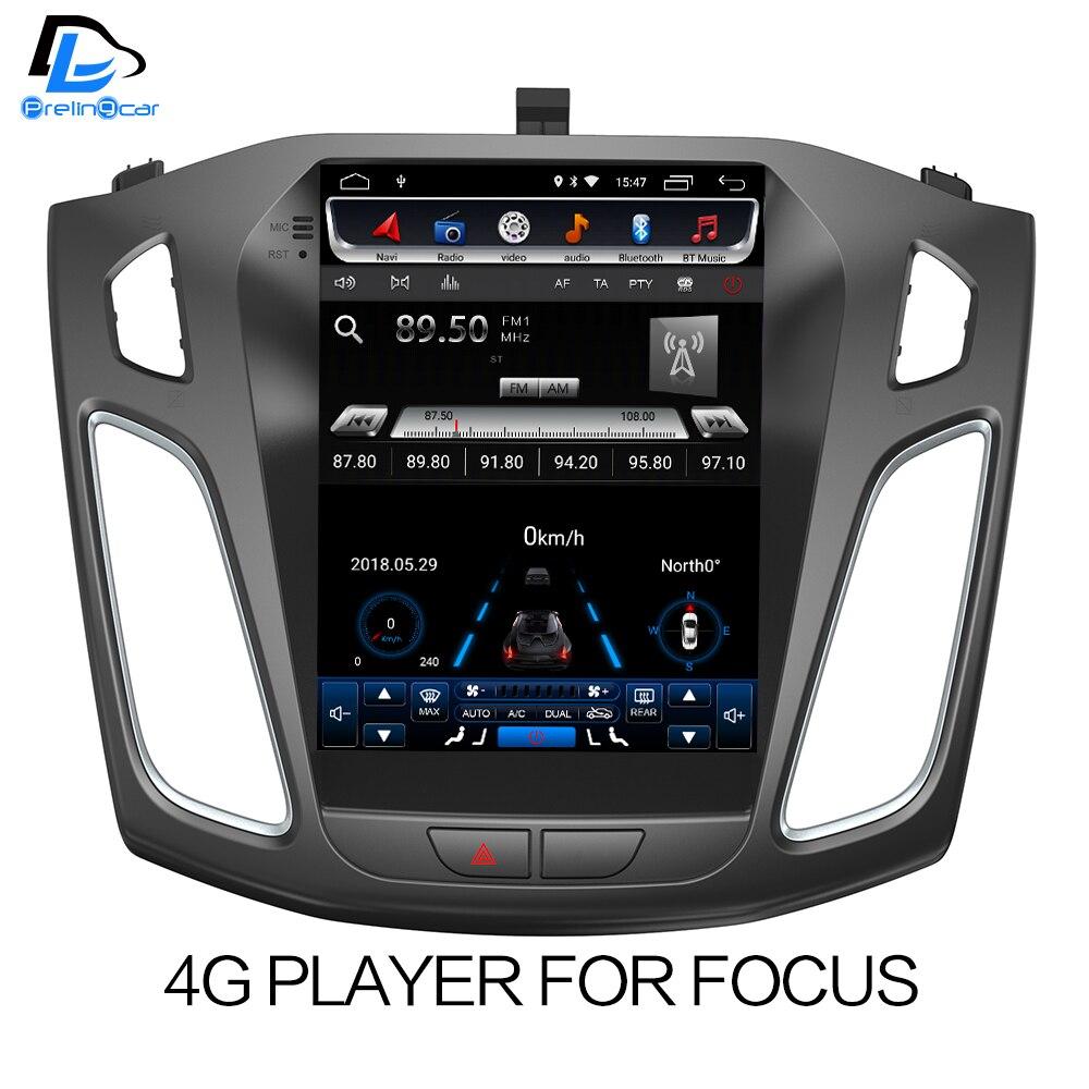 32g ROM Vertical écran android voiture gps multimédia vidéo radio lecteur au tableau de bord pour ford focus 2012-2016 ans navigation stéréo