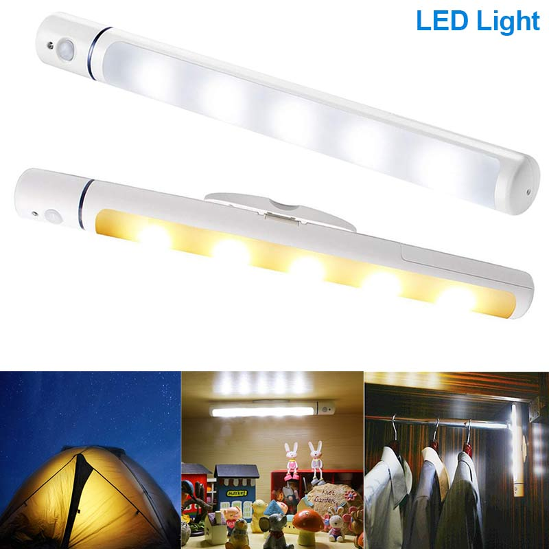 Wireless LED Light With Magnetic Body IR Infrared Motion Sens