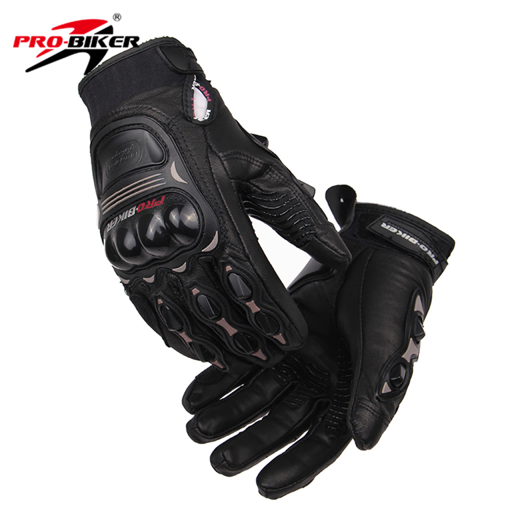Buy leather motorcycle gloves - Pro Biker Men Women Motorcycle Gloves Leather Motocross Knight Gloves Racing Motorcycle Riding Gloves Luvas