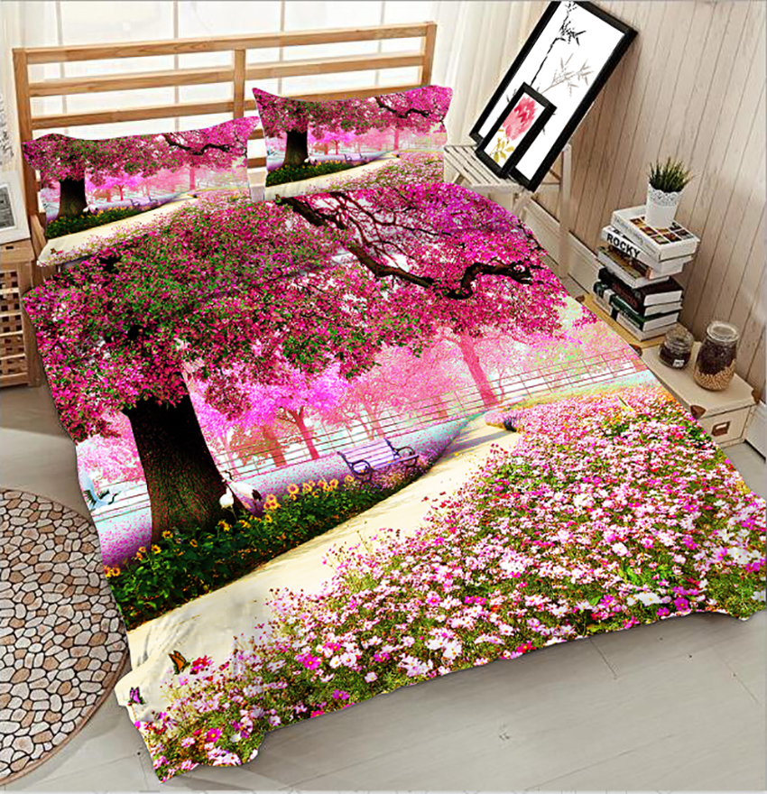 Literie En 3d Avec Fluer Twin Full King Queen Duvet Bed Cover Bed