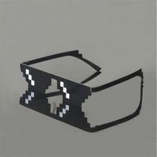 2018 New Deal with it Glasses Thug Life Glasses Pixel Women Men Sunglasses Black Mosaic Sun Glasses
