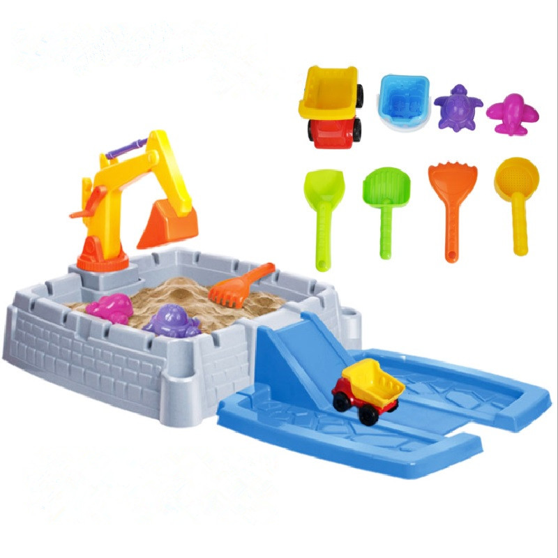 Beach toy children sand table Play sand water Childrens sandbox Game sand table Beach Table Set Series