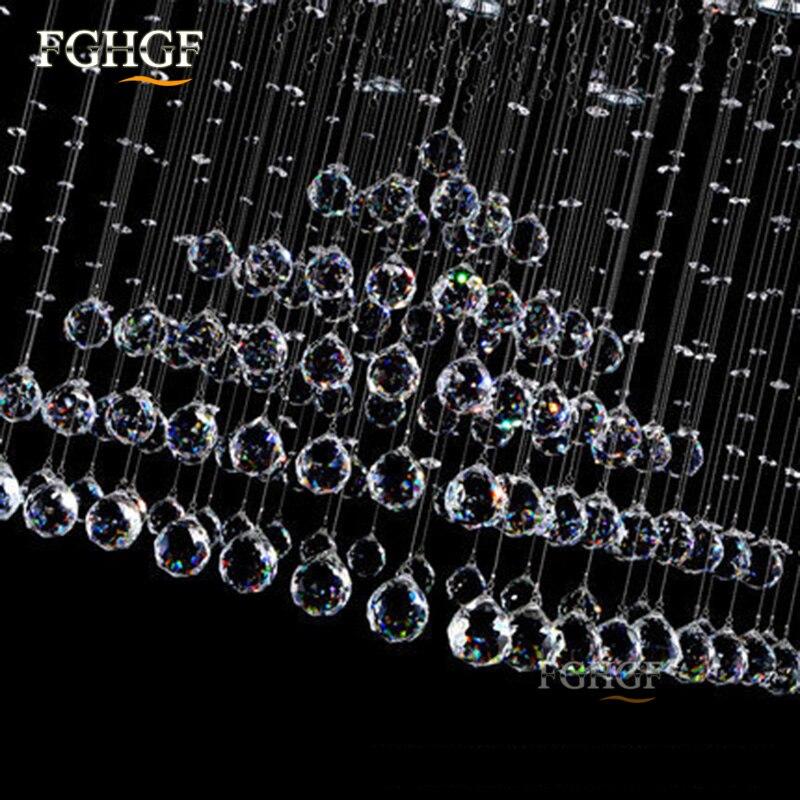 Luksuzni kvadratni kristalni luster Svjetlo Lustres de Cristal - Unutarnja rasvjeta - Foto 3