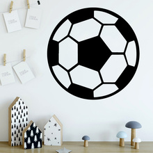 Lovely Soccer Wall Stickers Modern Fashion Sticker Decor Living Room Bedroom Removable Decal Mural