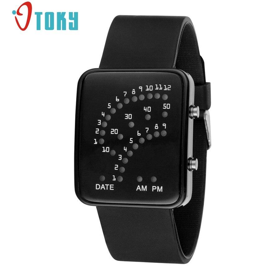New Arrive Women Mens Futuristic Style Multicolor LED Sport Wrist Watch # gift 1pcs