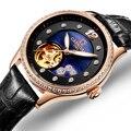 Швейцарские карнавальные женские часы люксовый бренд женские автоматические механические часы женские водонепроницаемые relogio feminino C0682-3