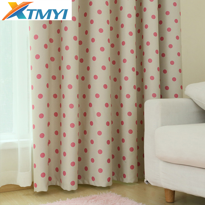 Korean Girls Pink Baby Room Blackout Curtains For Living Room