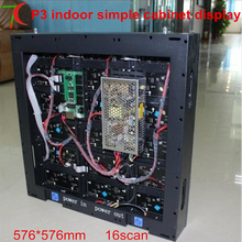 576mm*576mm P3 16scan simple cabinet screen ,111111dots/m2