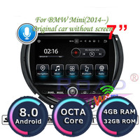 Roadlover Android 8.0 Car PC Media Center GPS Navigation Video For BMW Mini 2014 Player Stereo Radio Player Automagnitol NO DVD