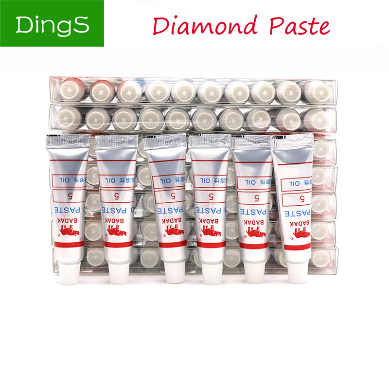6pcs W0.5 ~40 Diamond Polishing Abrasive Lapping Paste Grinding Polishing Paste Compound Syringes Micron Glass Metal Tools