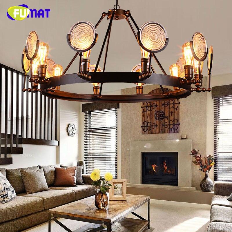 NºFumat vidrio Lámparas colgantes loft industrial antiguo lámpara ...