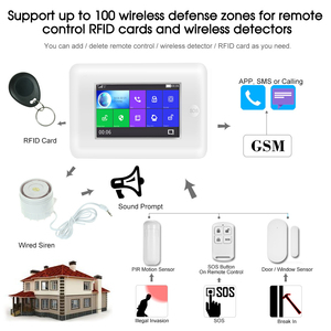 Image 5 - Yobang Security All Touch Screen Alexa Version 433MHz wireless WIFI GSM Smart Home Security Monitor Burglar Alarm System Kits