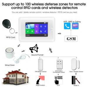 Image 5 - Yobang bezpieczeństwa wszystkich ekranów dotykowych Alexa wersja 433 MHz bezprzewodowy WIFI GSM inteligentny dom monitor bezpieczeństwa system antywłamaniowy zestawy
