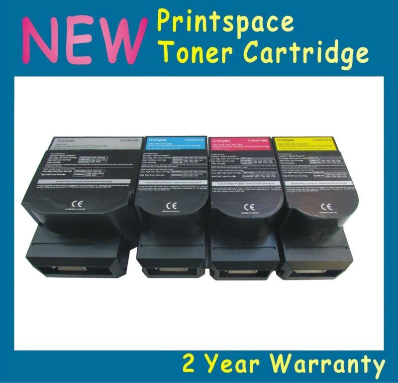 ФОТО 4x NON-OEM Toner Cartridges Compatible For Lexmark C540 C540n C543 C544 C546 X543 X544 X546 X548 KCMY Free shipping