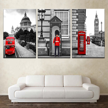Abstract City Street Landscape Wall Art Home Decor Canvas London street Painting Decorative Paintings Modern Pictures Frame