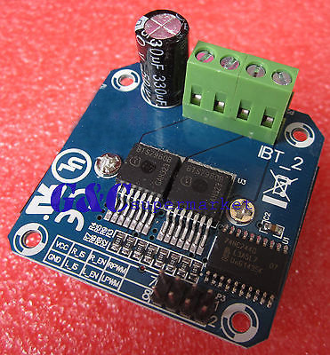 1pcs Double BTS7960B DC 43A Stepper Motor Driver H-Bridge PWM Smart Car