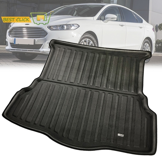 For Ford Fusion Mondeo 2017 2016 2018 Rear Trunk Boot Matliner Cargo Floor Tray Carpet Mud Kick Protector Overlay