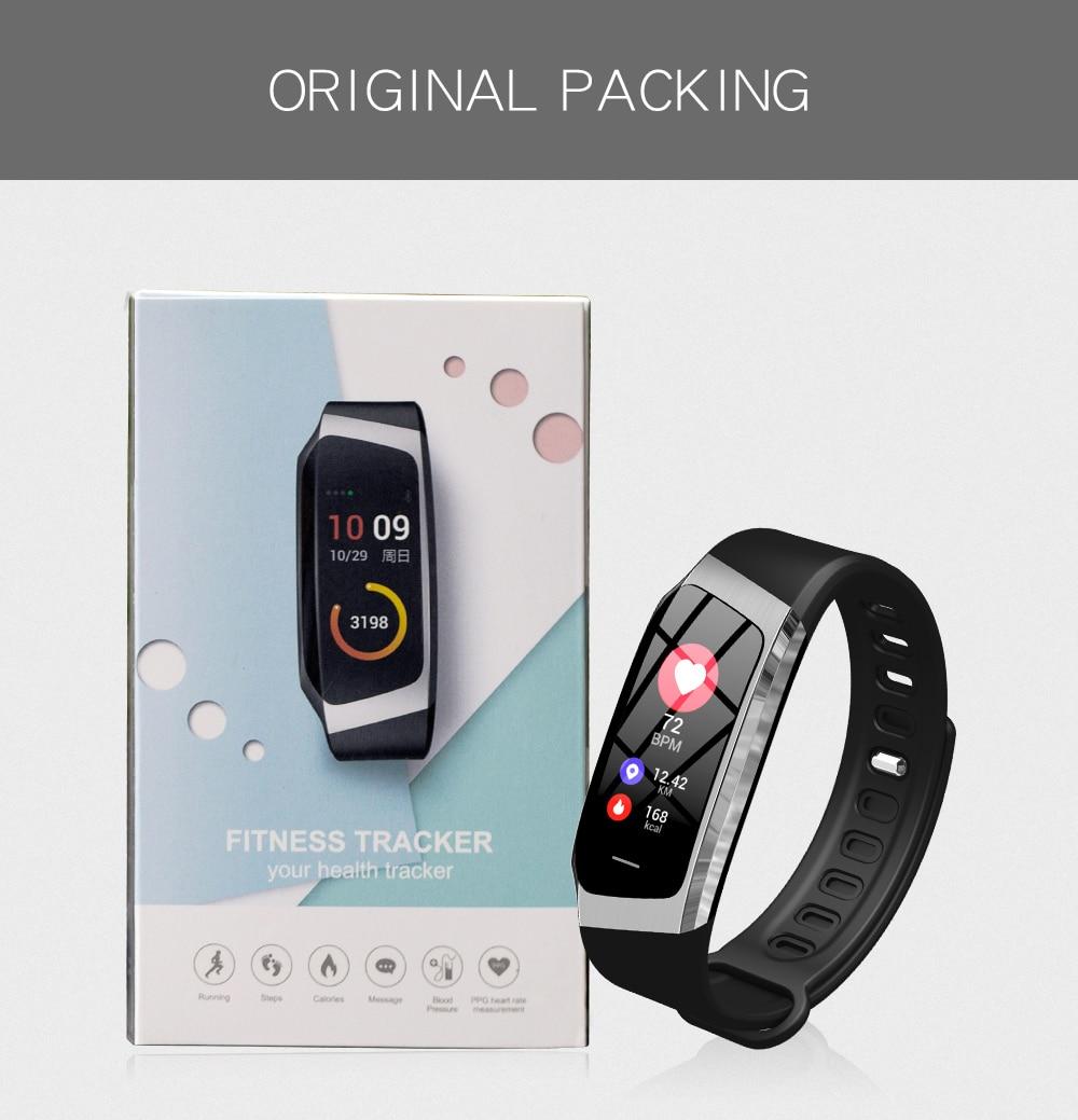 Смарт часы с Bluetooth, умные Цвет Сенсорный экран для мужчин женщин Детский Браслет спортивный браслет Хуа Вэй Сяо mi полосы для IOS Android E18 - 4