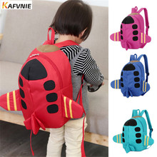 Фотография 2017 Cartoon 3D Aircraft Kids Backpacks Baby Mini Schoolbag  kindergarten Backpack Cute Children School Bags for Girls Boys