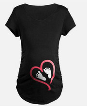 Long Sleeve Casual Maternity T-shirt