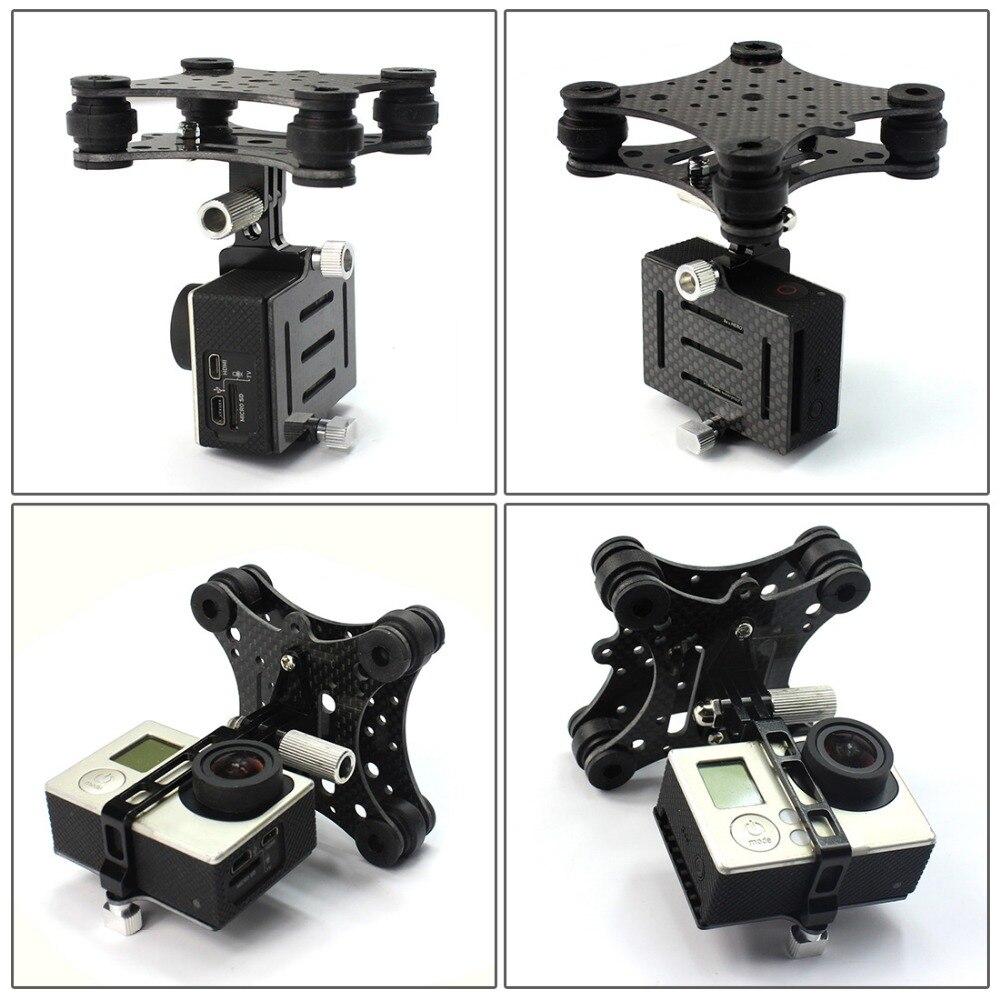 Carbon Fiber Camera Gimbal Mount FPV Shock Absorber Damping PTZ for DJI Phantom Quadcopter Multicopter for Gopro Hero 3