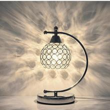 Modern Simple Crystal Table Lamp Creative Dining Room led Romantic Warm Bedroom Bedside Lamps For Living