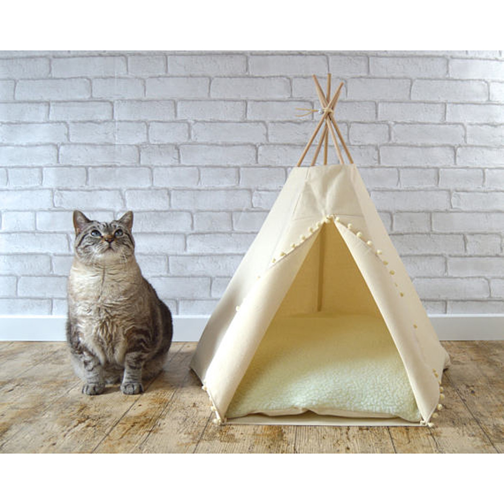white Dog Bed Dog House Pet play House play teepee tent lovely warm dog/cat play bed with mat together-in Toy Tents from Toys u0026 Hobbies on Aliexpress.com ...  sc 1 st  AliExpress.com & white Dog Bed Dog House Pet play House play teepee tent lovely ...