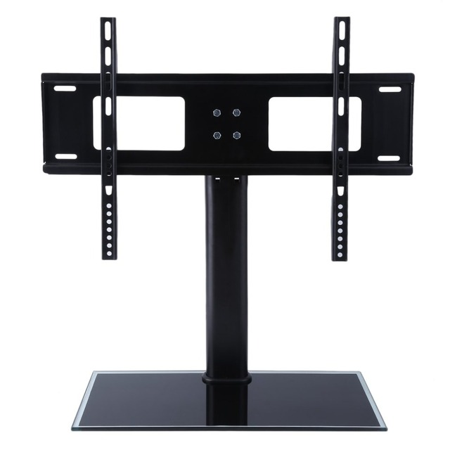 Genial Height Adjustable Floor Type Toughened Glass TV Bracket Stand Holder For  37 55 Inches LCD