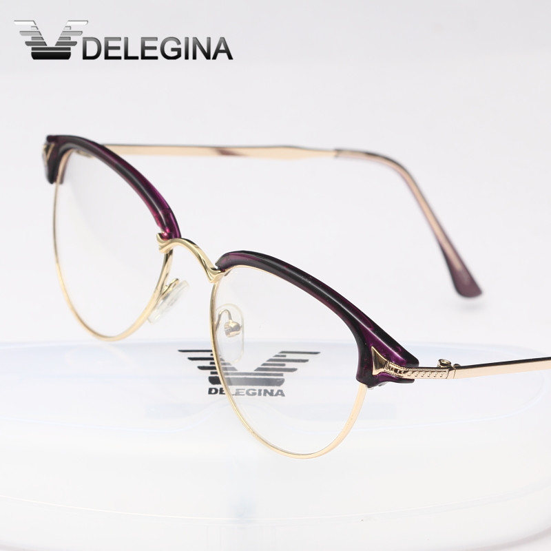 2018 Damen Mädchen Klar Objektiv Brillen Frauen Gläser Rahmen Für Myopie Brillen Optische Gläser Mit Box Klassische