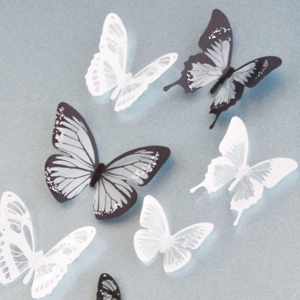 18pcs/lot creative 3D butterfly...