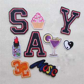 2016 year new arrive 11 kind cartoon hot melt adhesive applique embroidery patches stripes DIY accessory 1pcs sell C881-C897 image