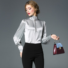 Solid turtleneck pullovers long sleeve blouse 2018 new women autumn shirts