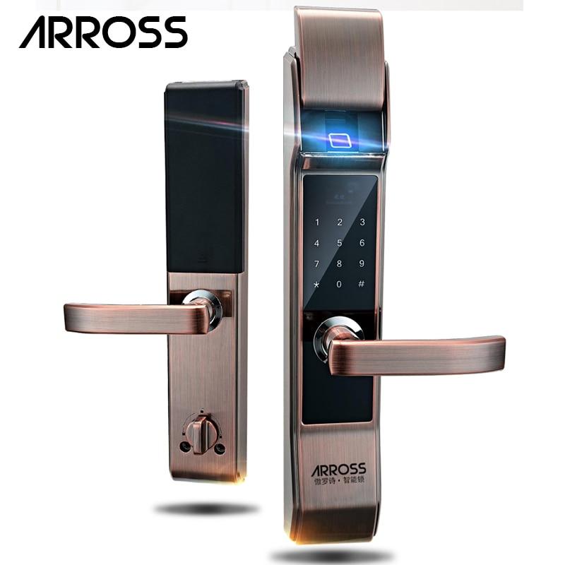 ARROSS sécurité électronique clavier tactile mot de passe serrure de porte intelligente numérique combinaison électronique mot de passe serrure porte pour la maison