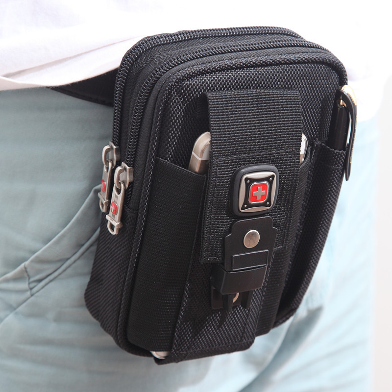Swiss Army Knife Male Note3 Sports Bag Brand Men Waist